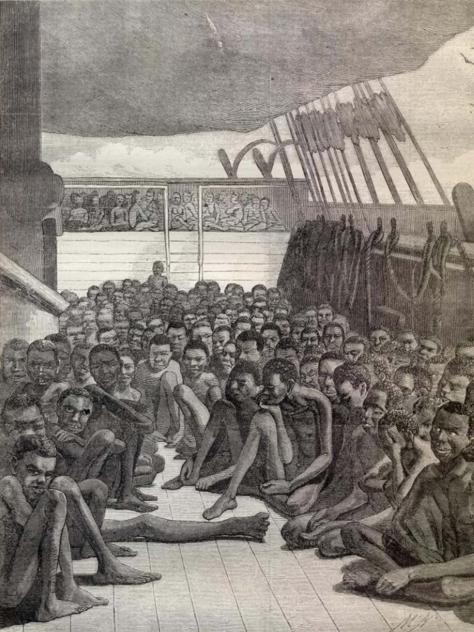 conditions on a slave ship Description of life on board slave ships conditions on board ship during the middle passage were appalling the men were packed together below deck and were.